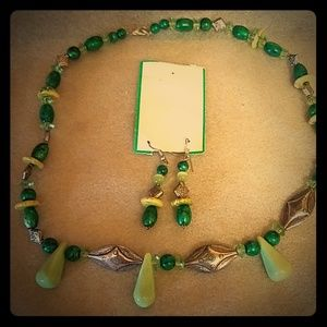 Jewelry - Costume Necklace and matching earrings